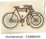 retro motorized bicycle | Shutterstock .eps vector #51888445