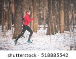 Winter Running Exercise. Runne...