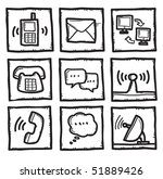 communication icons | Shutterstock .eps vector #51889426