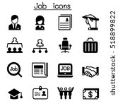 job   employment icon set | Shutterstock .eps vector #518899822