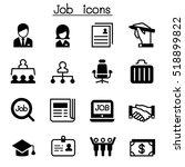 job   employment icon set | Shutterstock .eps vector #518899822