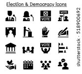 voting  democracy   election ... | Shutterstock .eps vector #518900692