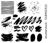 vector ink and paint textures... | Shutterstock .eps vector #518902522