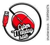 color vintage cyber monday... | Shutterstock .eps vector #518906476