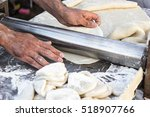 chef making dough pastry... | Shutterstock . vector #518907766