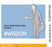 positive person about wisdom.... | Shutterstock .eps vector #518909242