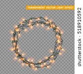garlands christmas decorations... | Shutterstock .eps vector #518910592