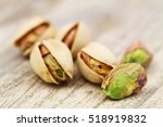 Close Up Of Few Pistachio Nuts...