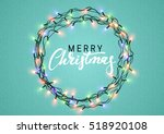 christmas background with... | Shutterstock .eps vector #518920108