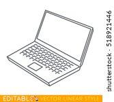 notebook laptop icon. editable...   Shutterstock .eps vector #518921446