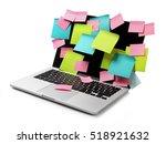 image of laptop full of... | Shutterstock . vector #518921632