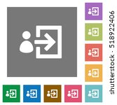 user login flat icons on simple ... | Shutterstock .eps vector #518922406