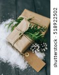 christmas home decoration with... | Shutterstock . vector #518922502