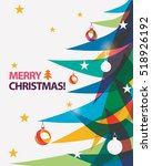 merry christmas card vector... | Shutterstock .eps vector #518926192