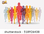 running people set of... | Shutterstock .eps vector #518926438