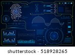 abstract hud interface ui hi... | Shutterstock .eps vector #518928265