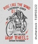 motorcycle typography  t shirt... | Shutterstock .eps vector #518933122
