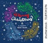 christmas poster   illustration.... | Shutterstock .eps vector #518934196