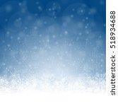 snow flakes on bottom side ... | Shutterstock .eps vector #518934688