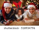 happy african american family... | Shutterstock . vector #518934796