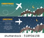 christmas holidays travel... | Shutterstock .eps vector #518936158