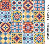 decorative colorful tile... | Shutterstock .eps vector #518937172