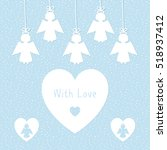 greeting card template with... | Shutterstock .eps vector #518937412