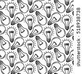 lamp light bulb hand drawn... | Shutterstock .eps vector #518938738