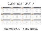 2017 calendar planner design.... | Shutterstock .eps vector #518940106