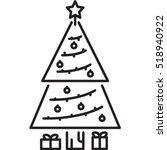 christmas tree icon | Shutterstock .eps vector #518940922