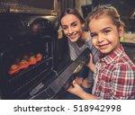 cute little girl and her... | Shutterstock . vector #518942998