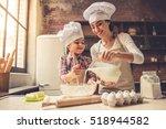 cute little girl and her... | Shutterstock . vector #518944582