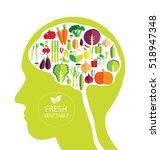 vegetables vector illustration | Shutterstock .eps vector #518947348