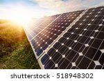 photovoltaic panels  ... | Shutterstock . vector #518948302