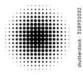halftone circles  halftone dot... | Shutterstock .eps vector #518951032