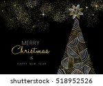 merry christmas and new year... | Shutterstock . vector #518952526