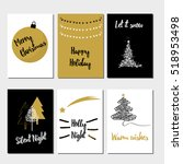 merry christmas greeting card... | Shutterstock .eps vector #518953498