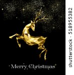 merry christmas gold holiday... | Shutterstock . vector #518955382