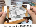 augmented reality marketing... | Shutterstock . vector #518957236