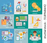 exact science research 9 flat... | Shutterstock . vector #518968642