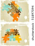 the grunge vector retro... | Shutterstock .eps vector #51897094