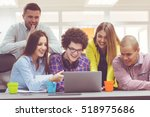 startup business people group... | Shutterstock . vector #518975686