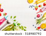colorful smoothies   green ... | Shutterstock . vector #518980792