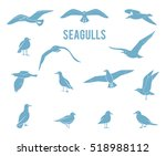 silhouettes of birds isolated... | Shutterstock .eps vector #518988112
