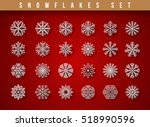 set 24 white different... | Shutterstock .eps vector #518990596