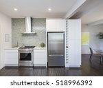 modern kitchen interior. design ... | Shutterstock . vector #518996392