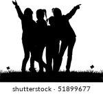 girls silhouettes | Shutterstock .eps vector #51899677