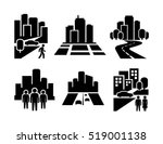 city icon | Shutterstock .eps vector #519001138