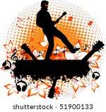 man with a guitar   grunge... | Shutterstock .eps vector #51900133
