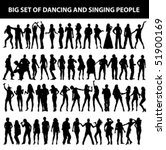 dancing and singing people's... | Shutterstock .eps vector #51900169